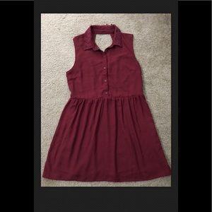 FOREVER 21 Burgundy Dress Large